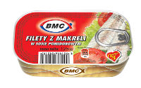 Filety z makreli w sosie pomidorowym 125g