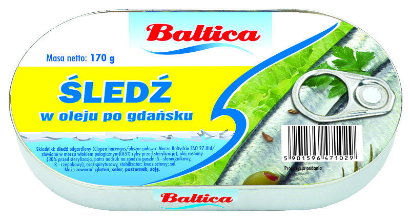 Herring in oil Gdansk style 170g