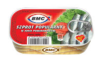 Szprot popularny w sosie pomidorowym 125g